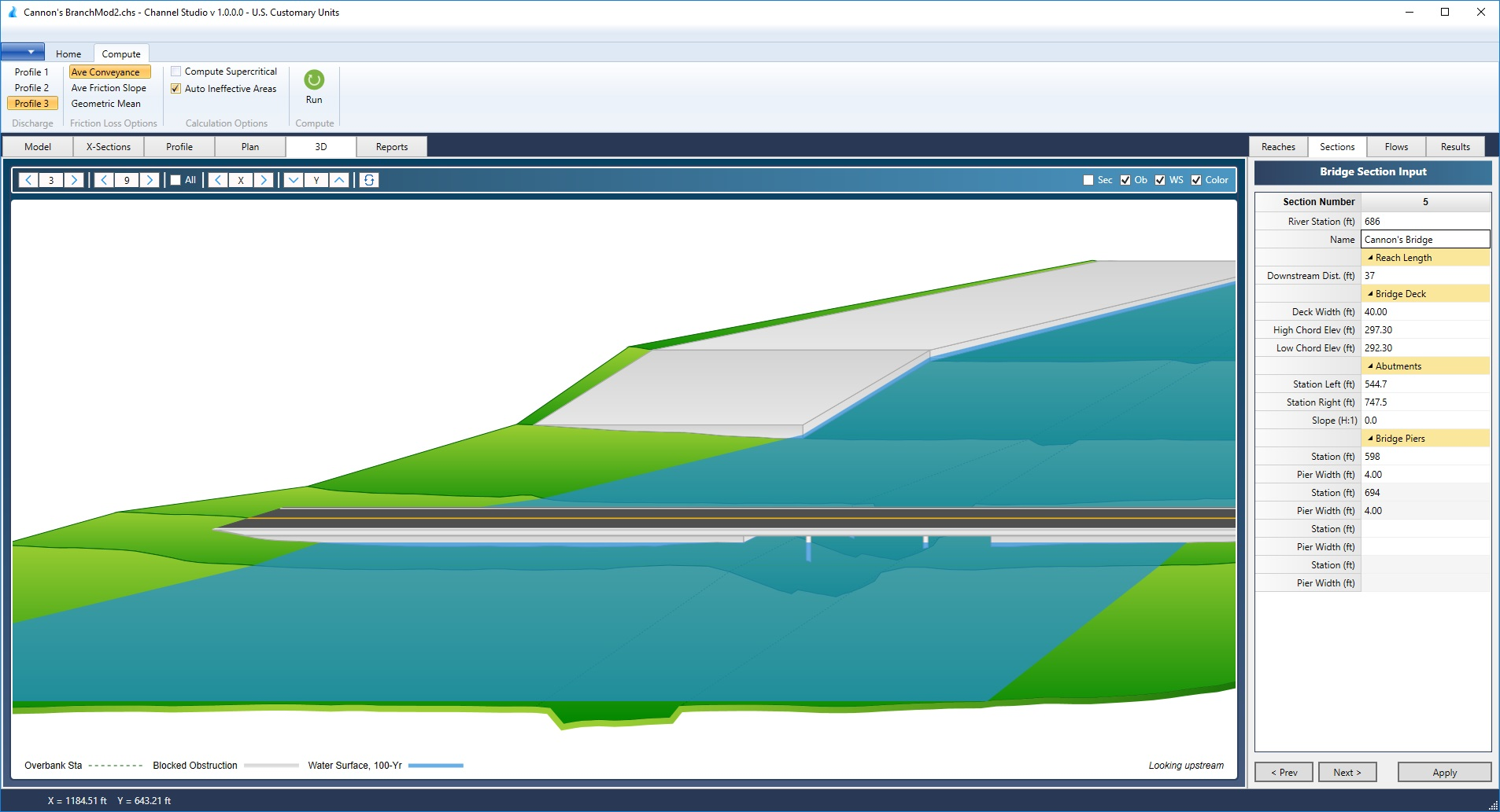 Open Channel Hydraulics Software   Channel Studio