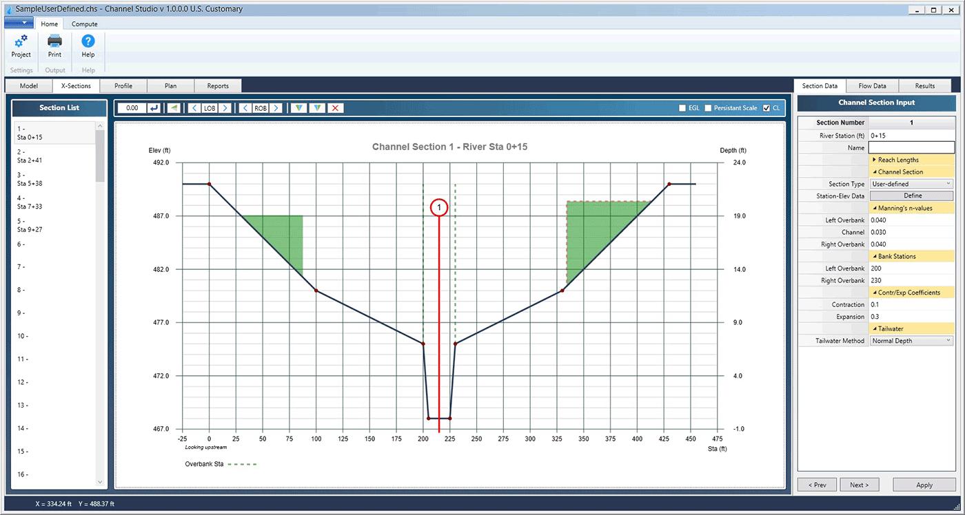 Open Channel Hydraulics Software | Channel Studio
