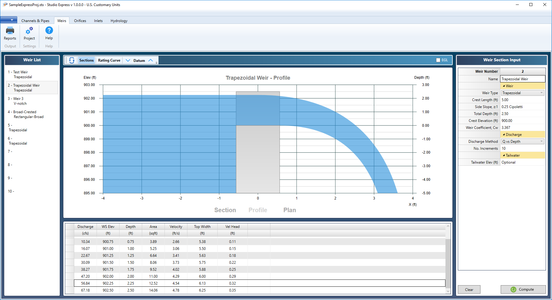 Hydraulics and Hydrology Software | Studio Express